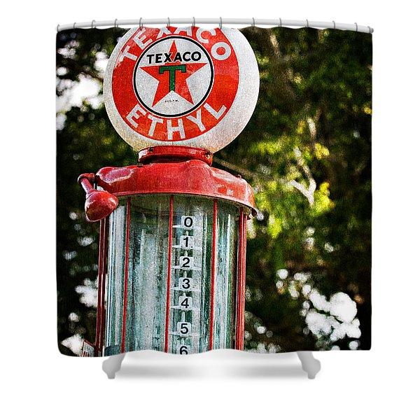 Vintage Texaco Gas Pump Shower Curtain