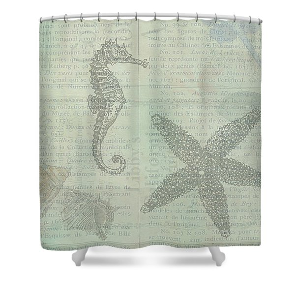 Vintage Under The Sea Shower Curtain
