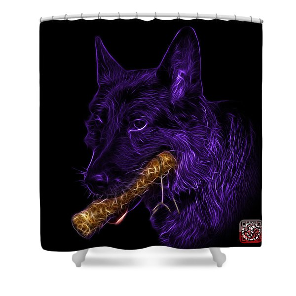 Violet German Shepherd And Toy - 0745 F Shower Curtain