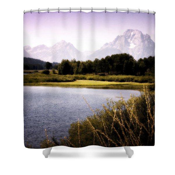 Violet Tetons Shower Curtain