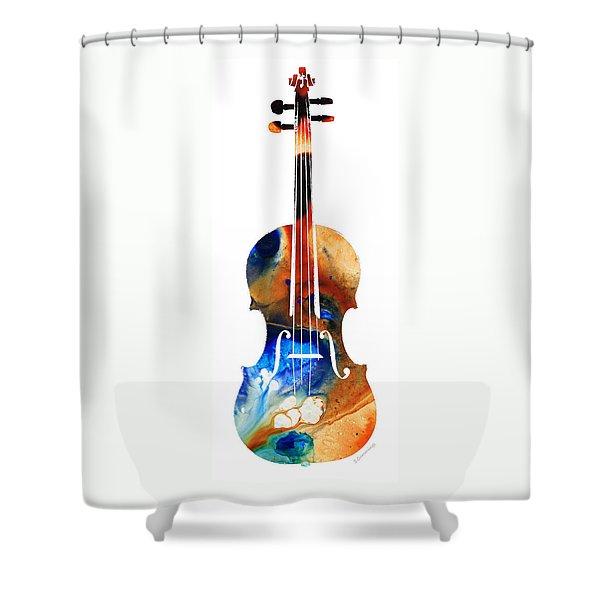 Violin Art By Sharon Cummings Shower Curtain
