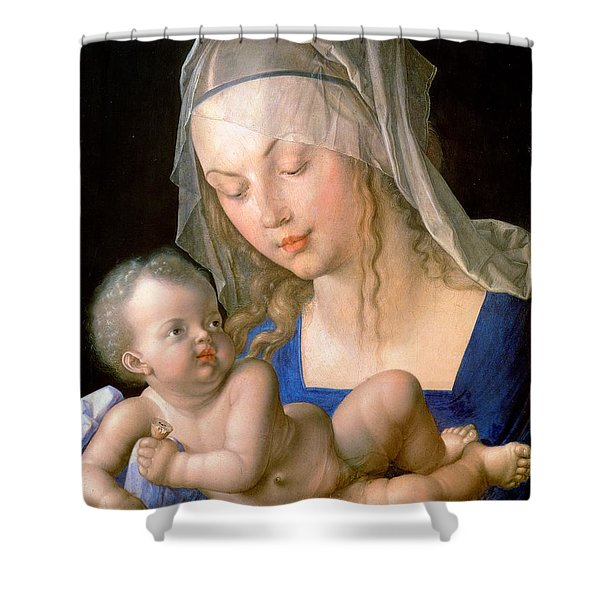 Virgin And Child Holding A Half-eaten Pear, 1512 Shower Curtain
