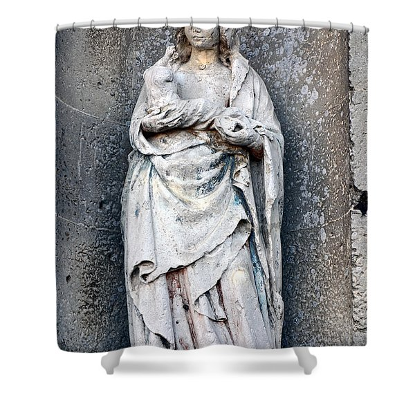 Virgin Mary With Child Shower Curtain