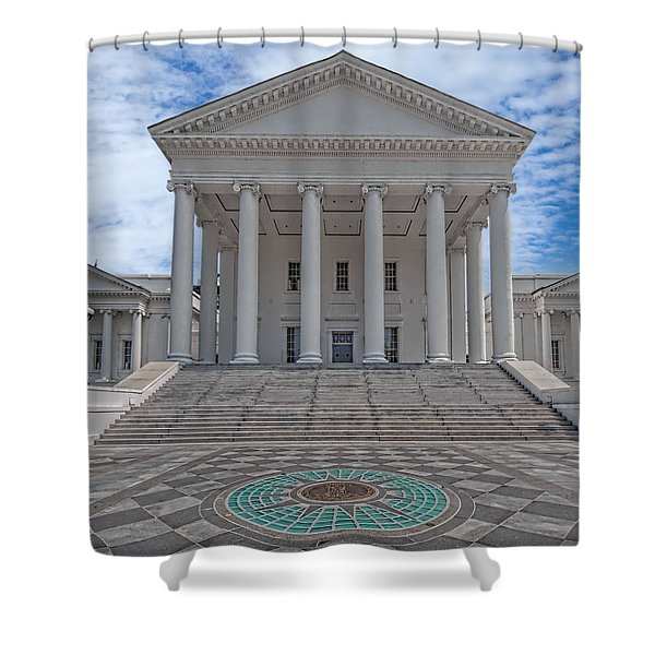 Shower Curtain featuring the photograph Virginia Capitol by Jemmy Archer