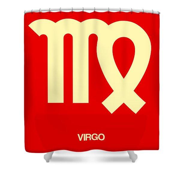 Virgo Zodiac Sign Yellow Shower Curtain