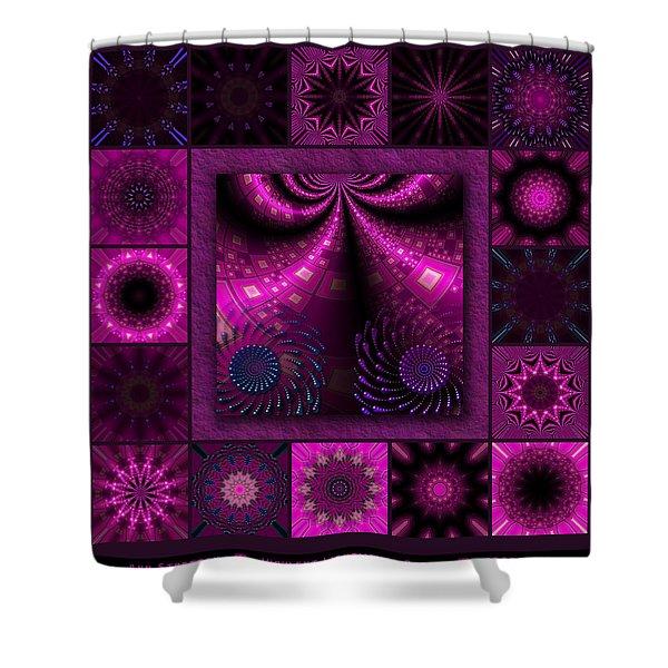 Virulent Lightwaves Redux  Shower Curtain