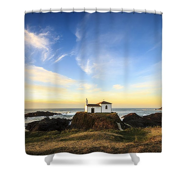 Virxe Do Porto Meiras Galicia Spain Shower Curtain