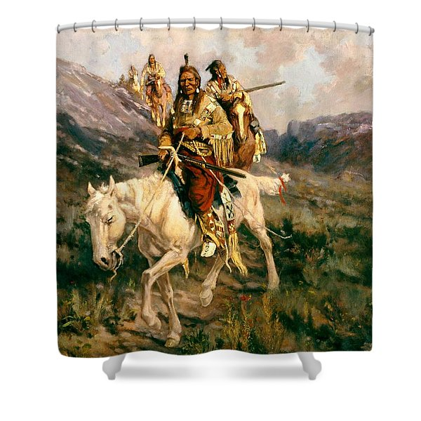 Visit To Another Tribe Shower Curtain