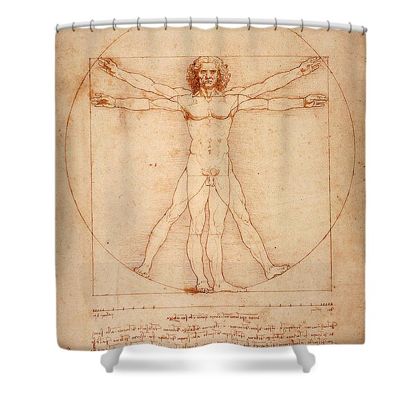 Vitruvian Man Shower Curtain