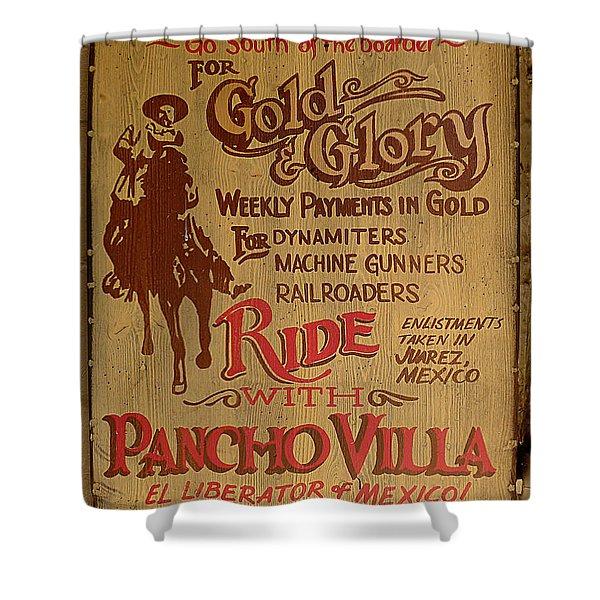 Viva Revolucion - Pancho Villa Shower Curtain