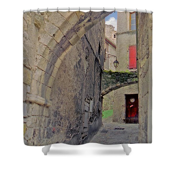 Viviers Alley Shower Curtain