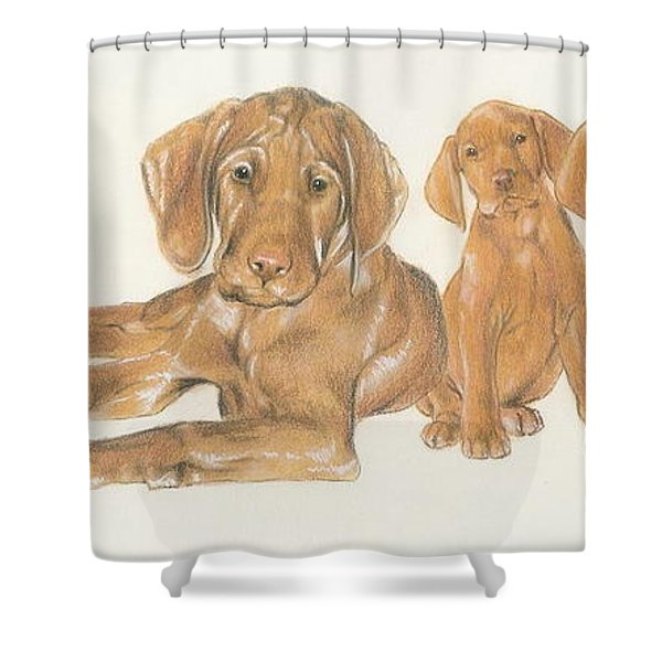 Vizsla Puppies Shower Curtain