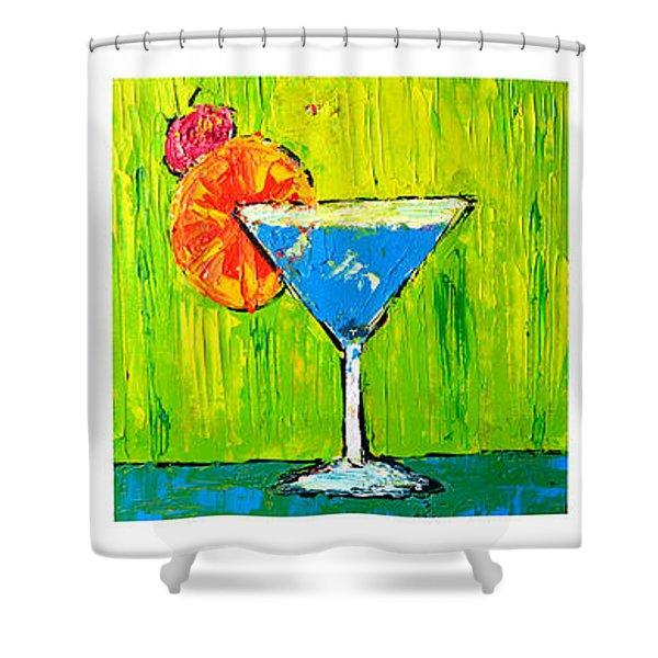 Vodka Martini Collection Bar Decor - Modern Art Shower Curtain