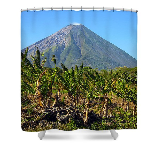 Volcan Concepcion Nicaragua Shower Curtain