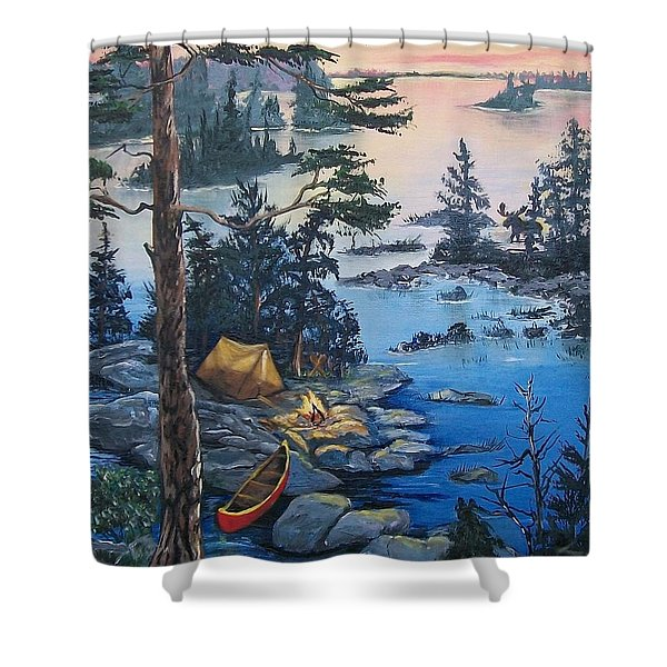Wabigoon Lake Memories Shower Curtain