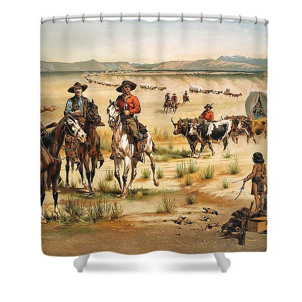 Wagon Train Shower Curtain