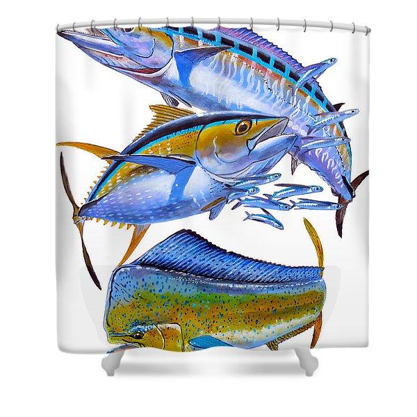 Wahoo Tuna Dolphin Shower Curtain