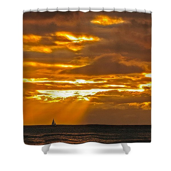 Waikiki Sun Set Shower Curtain