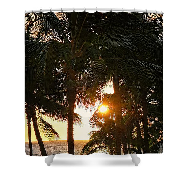 Waikoloa Palms Shower Curtain