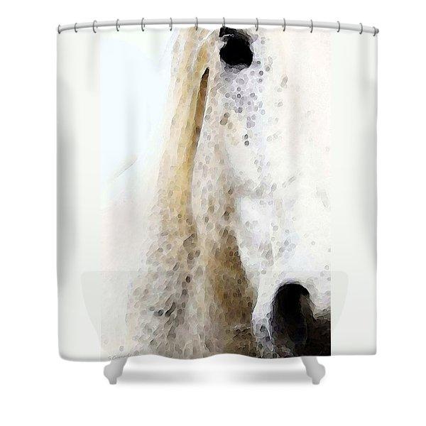 Horse Art - Waiting 2 - By Sharon Cummings Shower Curtain