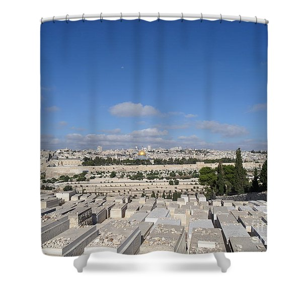 Waiting For God Shower Curtain