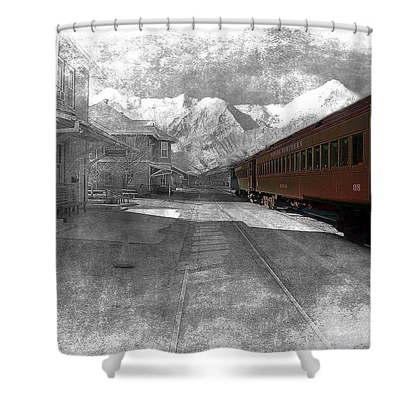 Shower Curtain featuring the photograph Waiting For The Take Off by Gunter Nezhoda