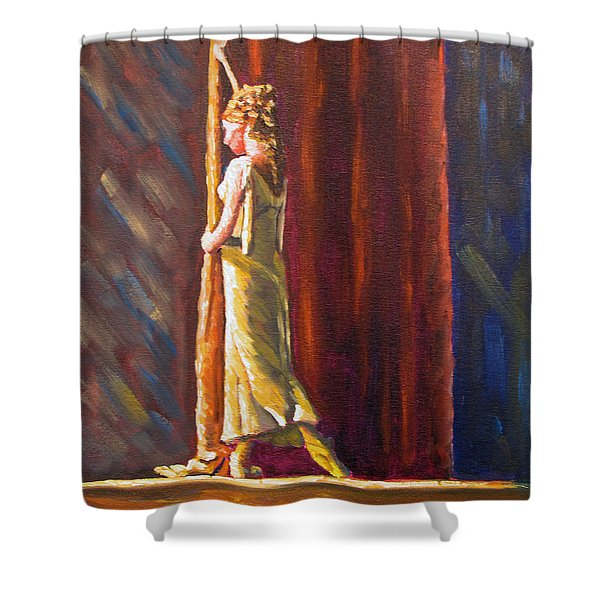Waiting To Perform Shower Curtain