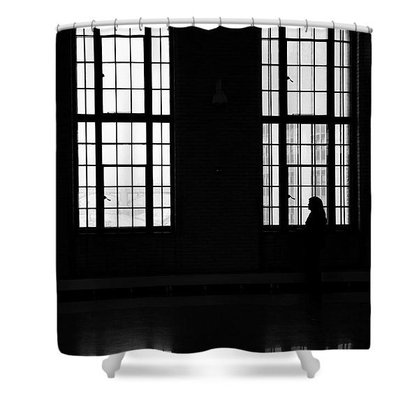 Waiting Shower Curtain