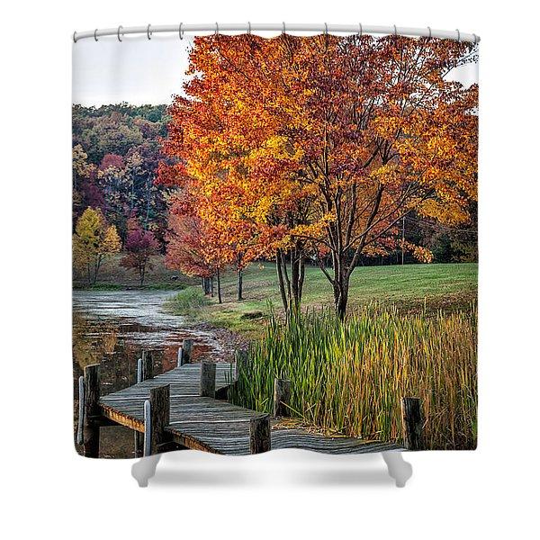 Walk Into Fall Shower Curtain