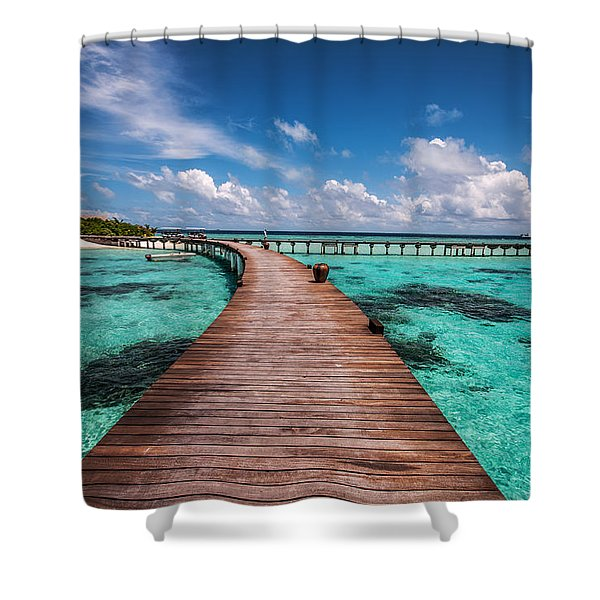 Walk Over The Water Shower Curtain