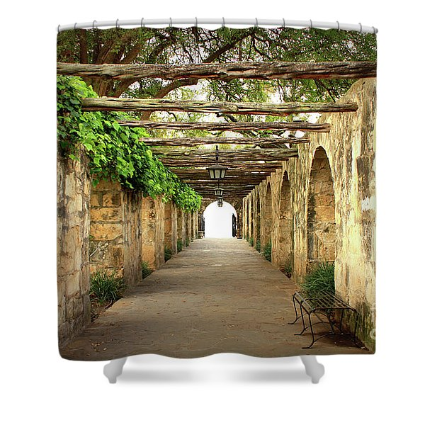 Walk To The Light Shower Curtain
