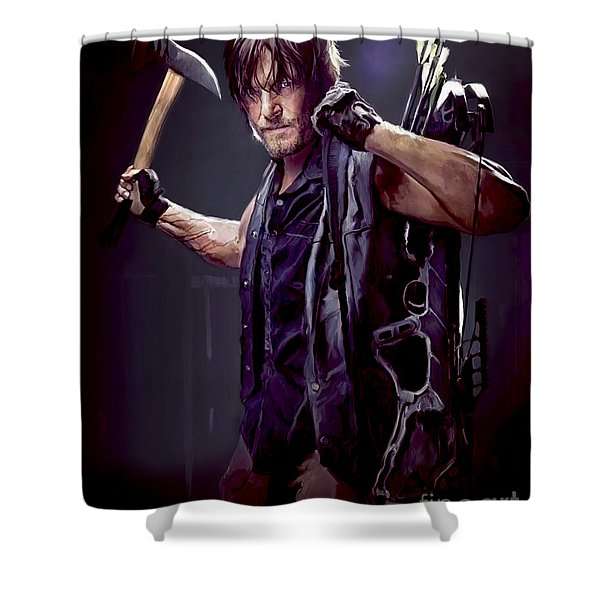 Walking Dead - Daryl Dixon Shower Curtain