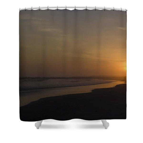 Walking Down The Beach Shower Curtain