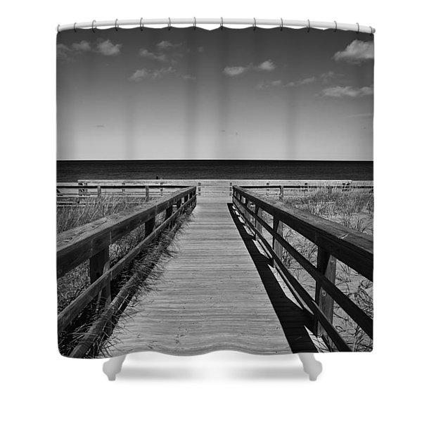 Walking Grand Marais  Mono Shower Curtain