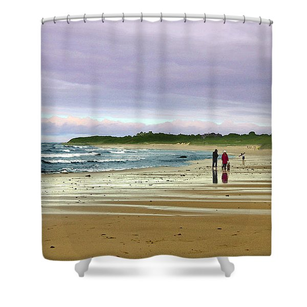 Walking The Dog After A Storm Shower Curtain