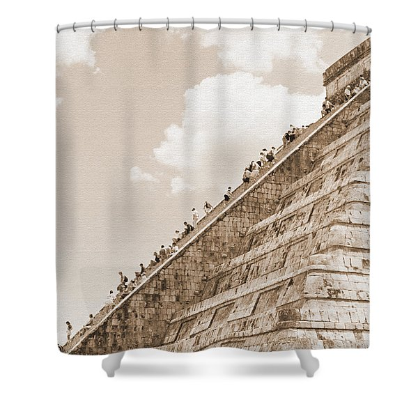 Walking Up The Pyramid Shower Curtain