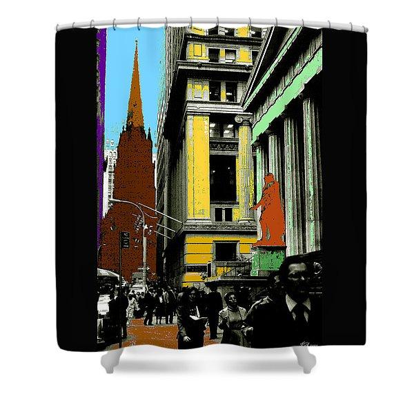 New York Pop Art 99 - Color Illustration Shower Curtain