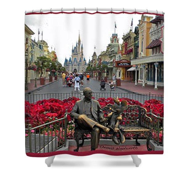 Walt Disney World Transportation 3 Panel Composite 02 Shower Curtain