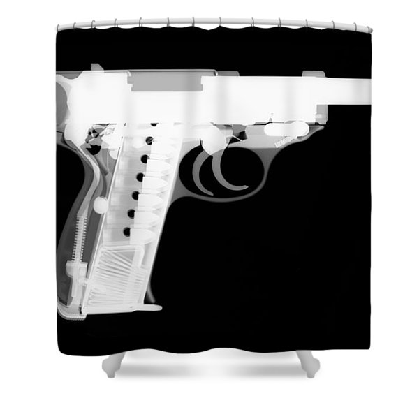 Walther P38 Reverse Shower Curtain