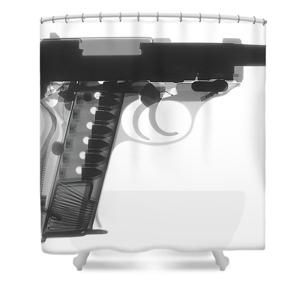 Walther P38 X-ray Photograph Shower Curtain