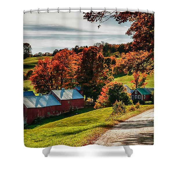 Wandering Down The Road Shower Curtain