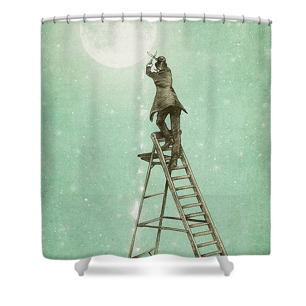 Waning Moon Shower Curtain