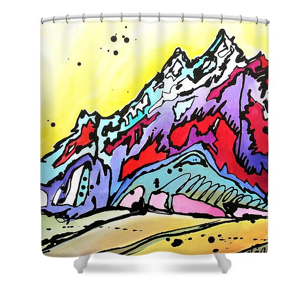 Waning Seasons In The Tetons Shower Curtain