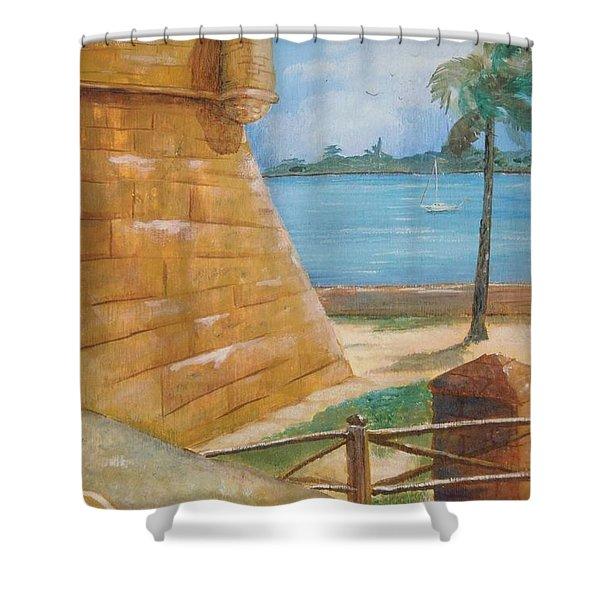 Warm Days In St. Augustine Shower Curtain
