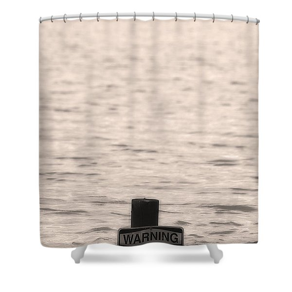 Warning Midwest Floods Shower Curtain