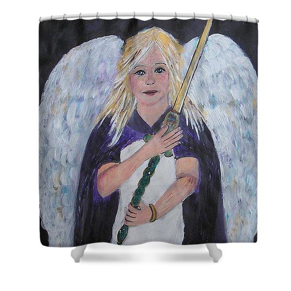 Warrior Angel Shower Curtain