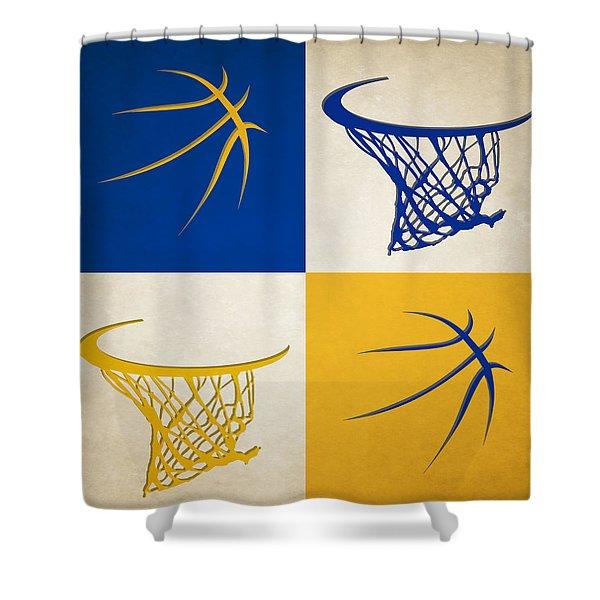Warriors Ball And Hoop Shower Curtain