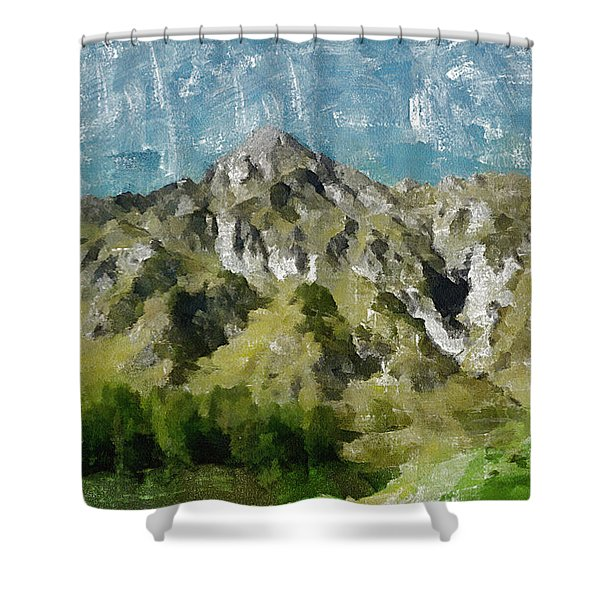 Washed Out Shower Curtain