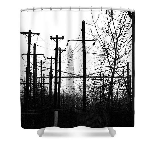Washington Monument From The Train Yard. Washington Dc Shower Curtain