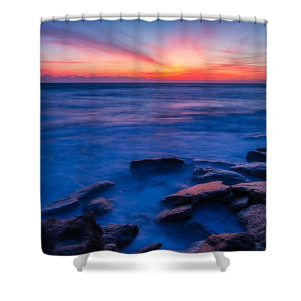 Washington Oaks Twilight Shower Curtain